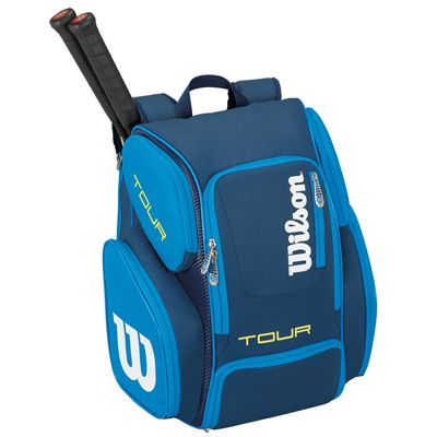 Wilson Tour V Large Backpack - Blue - In Use
