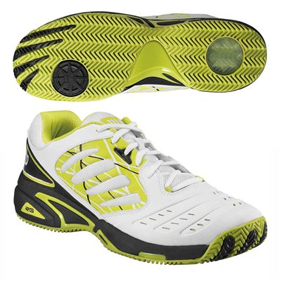 Wilson Tour Vision II Mens Tennis Shoes Lime