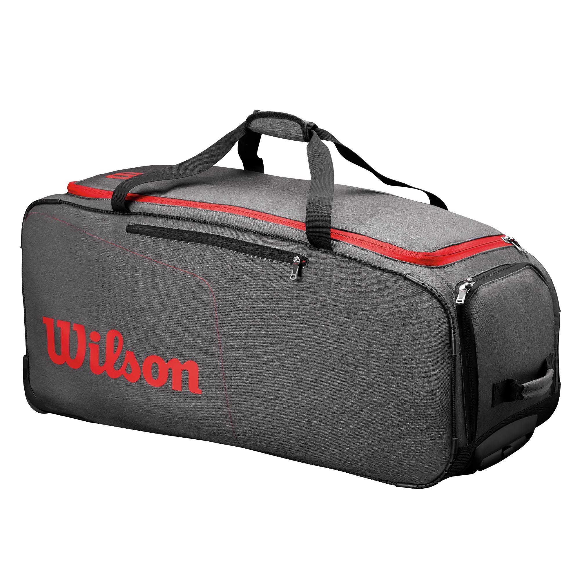 Wilson Traveler Wheeled Coach Duffle Bag Sweatband Com