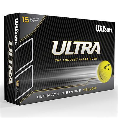 Wilson Ultra Ultimate Distance 15 Ball-Yellow-Box
