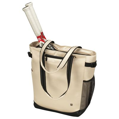 Wilson Verve Tote Bag with racquets-Champagne