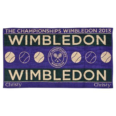 Wimbledon Mens Championship Towel 2013