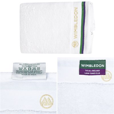 Wimbledon Sports Towel - Folded - Zoom