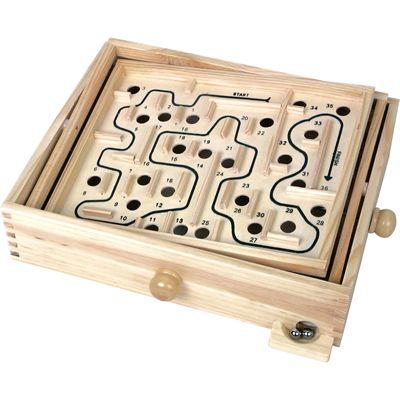 Wooden Labyrinth Closeup