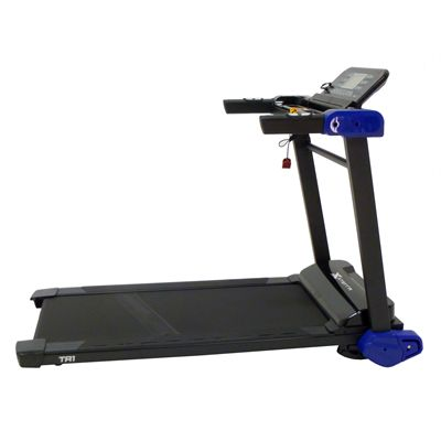 Xterra Trail Racer 1.0 Treadmill Side View with opened Console