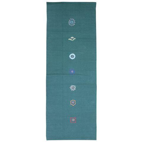 Yoga Mad Chakra Pattern Cotton Yoga Rug