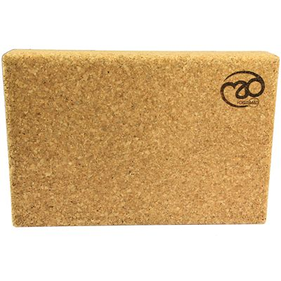 Yoga Mad Cork Yoga Block-Front