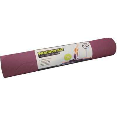 Yoga Mad Evolution Yoga Mat 4mm-Aubergine-Grey
