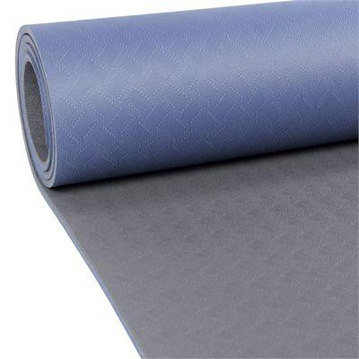 Yoga Mad Evolution Yoga Mat 4mm-Blue-Grey-Strap-Zoom