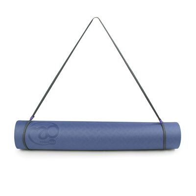 Yoga Mad Evolution Yoga Mat 4mm-Blue-Grey-Strap