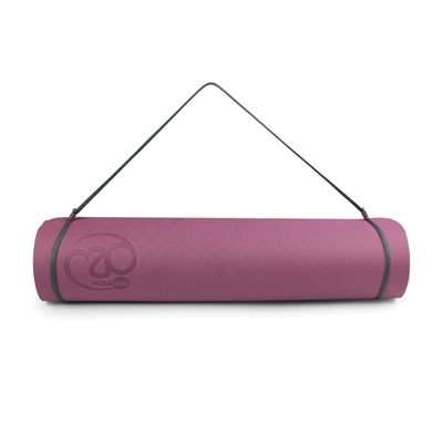 Yoga Mad Evolution Mat Deluxe 6mm - Aubergine - strap