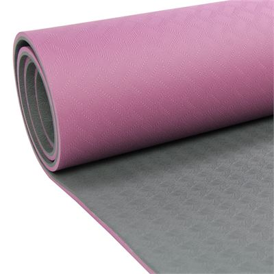 Yoga Mad Evolution Mat Deluxe 6mm - Aubergine - Zoomed