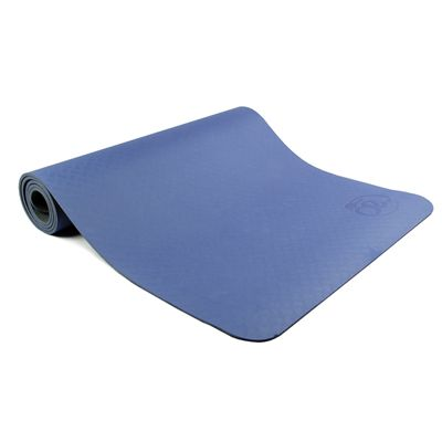 Yoga Mad Evolution Mat Deluxe 6mm - Blue - Folded
