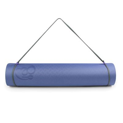 Yoga Mad Evolution Mat Deluxe 6mm - Blue - Strap