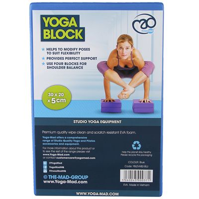 Yoga Mad Yoga Block-Packaging