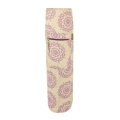 Yoga Mad Jute Cotton Patterned Yoga Mat Bag - Standing