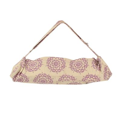 Yoga Mad Jute Cotton Patterned Yoga Mat Bag