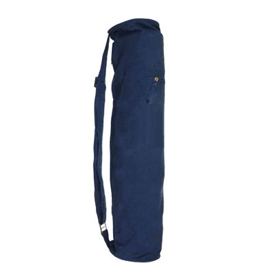 Yoga Mad Jute Cotton Yoga Mat Bag - Blue