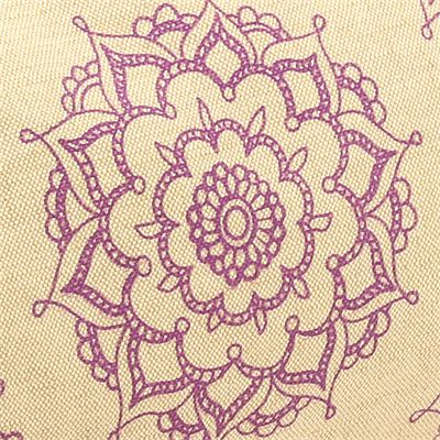 Yoga Mad Jute Patterned Buckwheat Bolster - Pattern