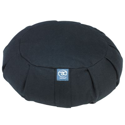 Yoga Mad Pleated Round Zafu-Black