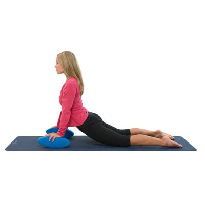 Yoga Mad Soft Egg Yoga Block in Use
