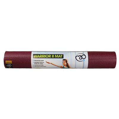 Yoga Mad Warrior II 4mm Yoga Mat - Burgundy