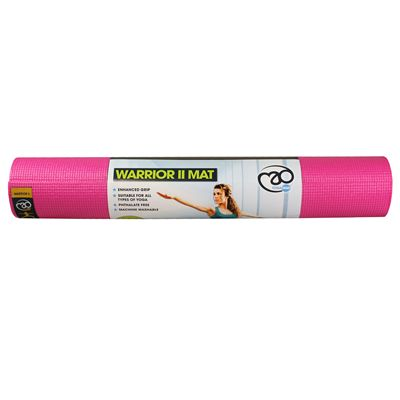 Yoga Mad Warrior II 4mm Yoga Mat - Pink