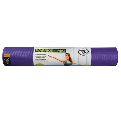 Yoga Mad Warrior II 4mm Yoga Mat - Purple
