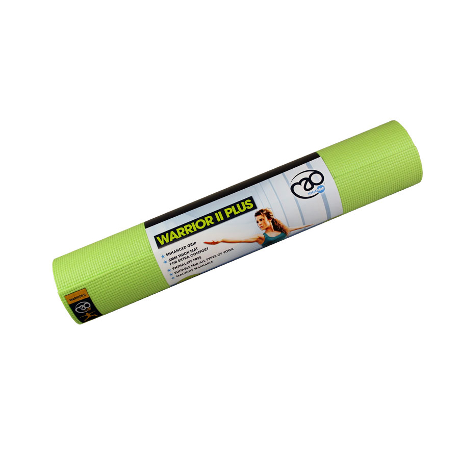 Yoga Mad Warrior Ii Plus 6mm Yoga Mat Lime Best Uk Prices