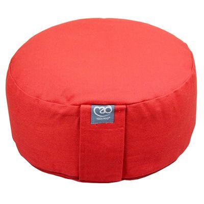 Yoga Mad Zafu Round Cushion Standard - Red Colour