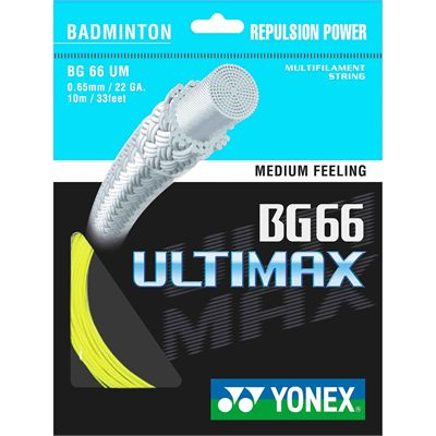 Yonex BG-66 Ultimax Badminton String - 10m Set Yellow