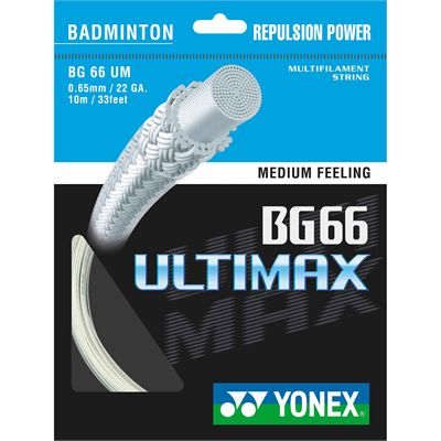 Yonex BG-66 Ultimax Badminton String  Set White