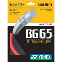 Yonex BG65TI Badminton String 10m Set Red