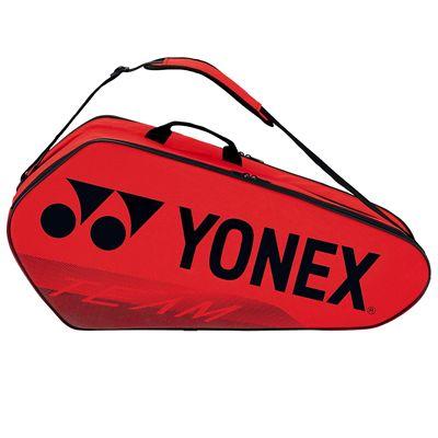 Yonex 42126 Team 6 Racket BagYonex 42126 Team 6 Racket Bag - Red Side