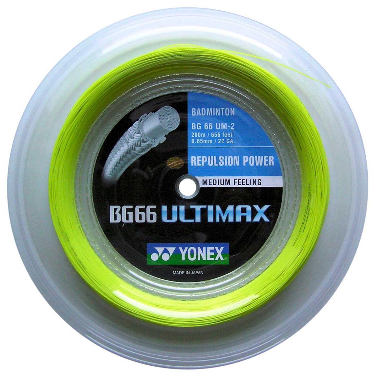 Yonex BG66 Ultimax Badminton String - 200m Reel - Yellow