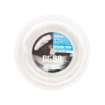 Yonex BG80 Badminton String-200m reel-white