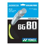 Yonex BG 80 Yellow Badminton Racket String 10M SET