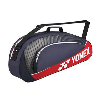 Yonex Club 3 Racket Bag - Navy Blue Red