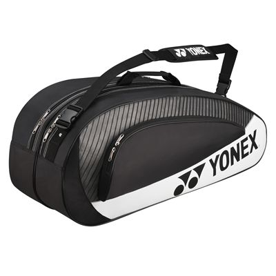 Yonex Club 6 Racket Bag - Black and Silver