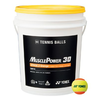 Yonex Muscle Power 30 Orange Tennis Balls - 60 Balls Bucket
