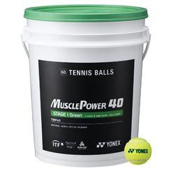 Yonex Muscle Power 40 Green Tennis Balls - 60 Balls Bucket