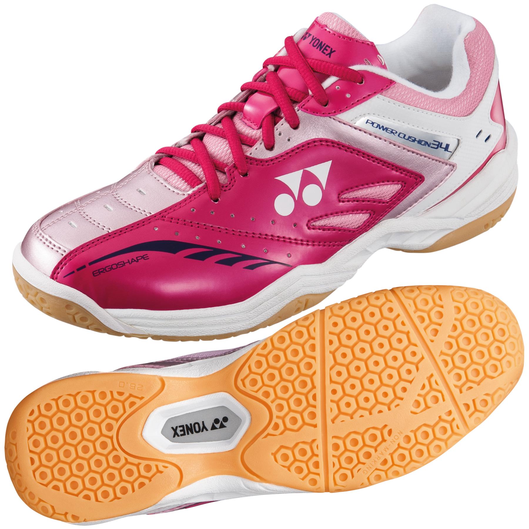 Yonex Power Cushion 34 Ladies Badminton Shoes  Pink 6.5 UK