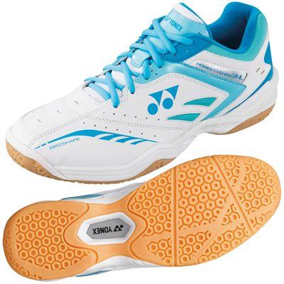 Yonex Power Cushion 34 Ladies Badminton Shoes-White and Blue