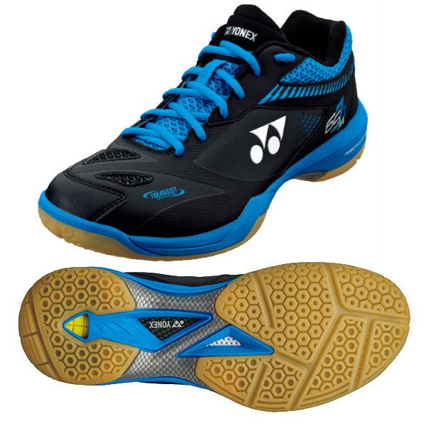 Yonex Power Cushion 65 Z2 Mens Badminton Shoes - Black/Blue, 7 UK