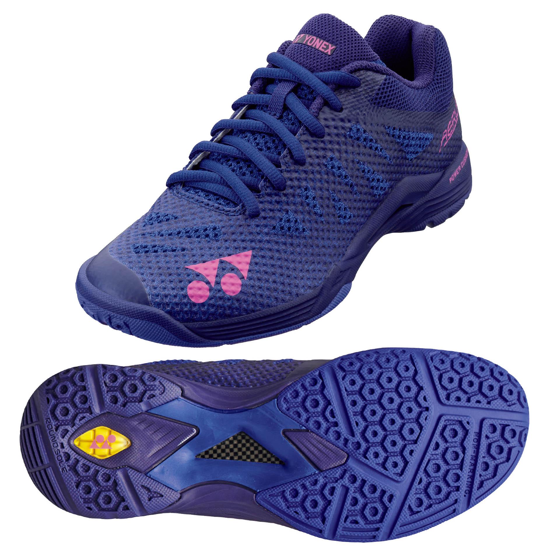 Yonex Power Cushion Aerus 3 Ladies Badminton Shoes - Navy Blue, 8 UK