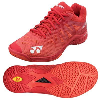 Yonex Power Cushion Aerus 3 Mens Badminton Shoes - Red