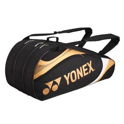 Yonex Tournament Basic 9 Racket Bag - Black and Gold