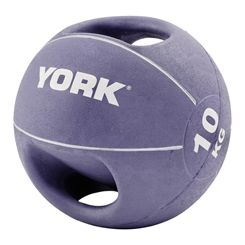 York 10kg Double Grip Medicine Ball