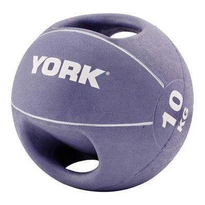 York 10kg Double Grip Medicine Ball