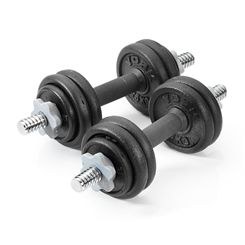York 15kg Cast Iron Dumbbell Set